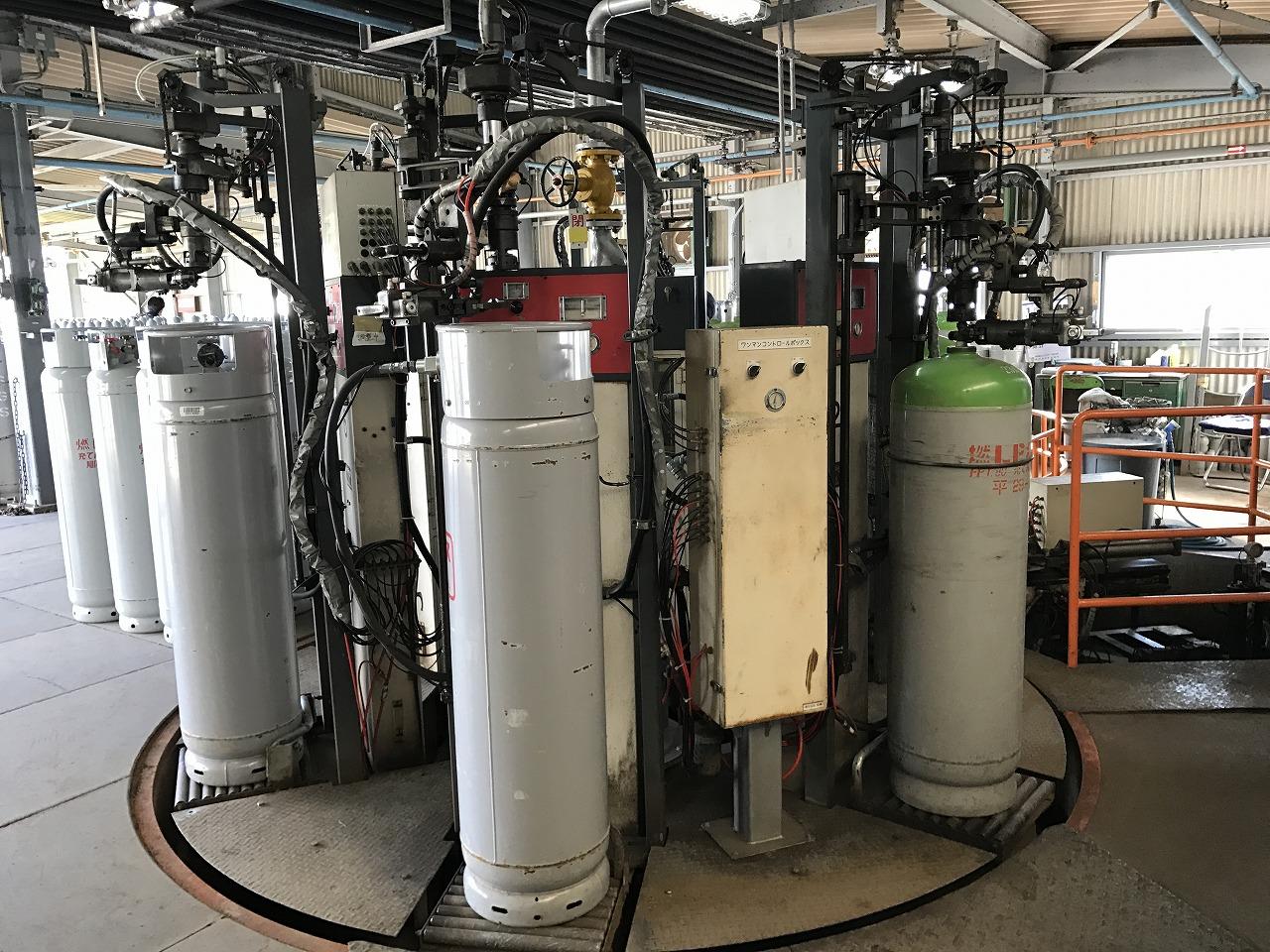 全自動6連式ガス充填機